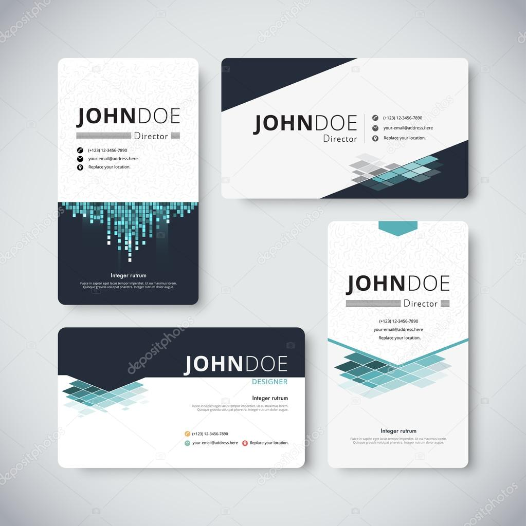 Corporate business card template business card design vector s corporate business card template business card design vector stock vetor de aohodesigndp reheart Images