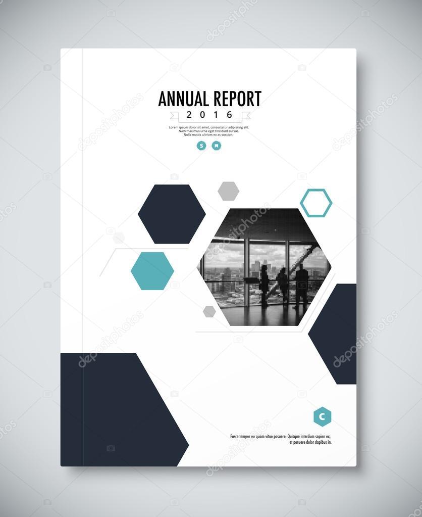Corporate annual report template design. corporate business docu ...