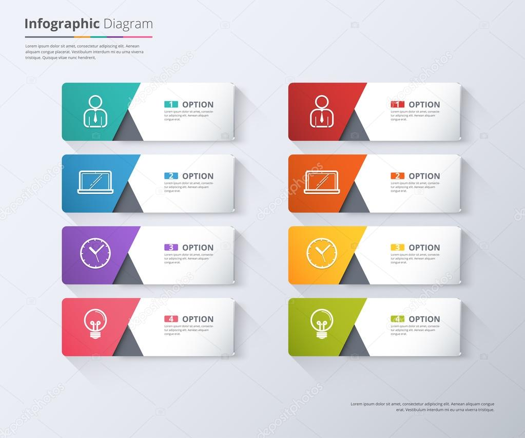 Modern minimal arrow elements for business infographics.