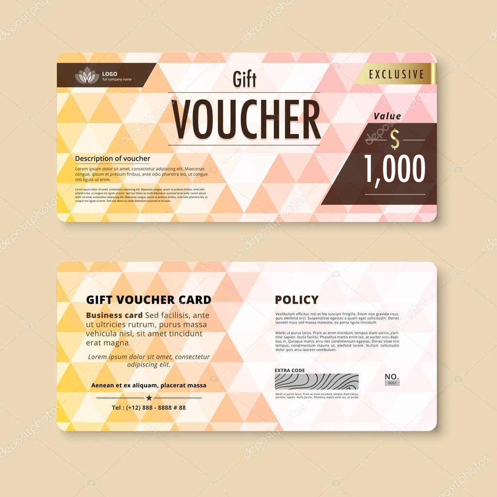 Luxury gift voucher template. promotion card, Coupon design. vec ...