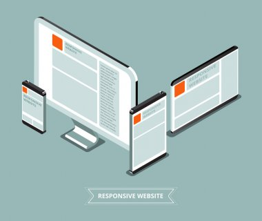 Responsive website with different device. Good view for differen
