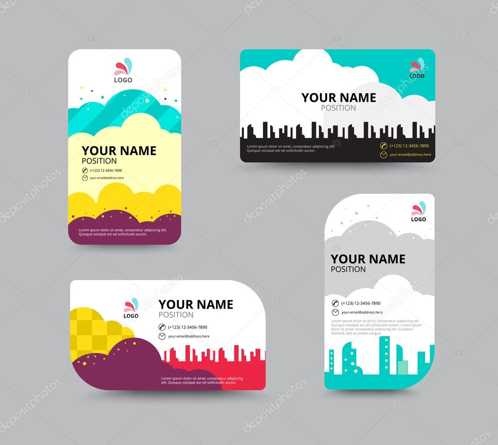 Business Card Template Business Card Layout Design Vector Illu - Sample business card templates