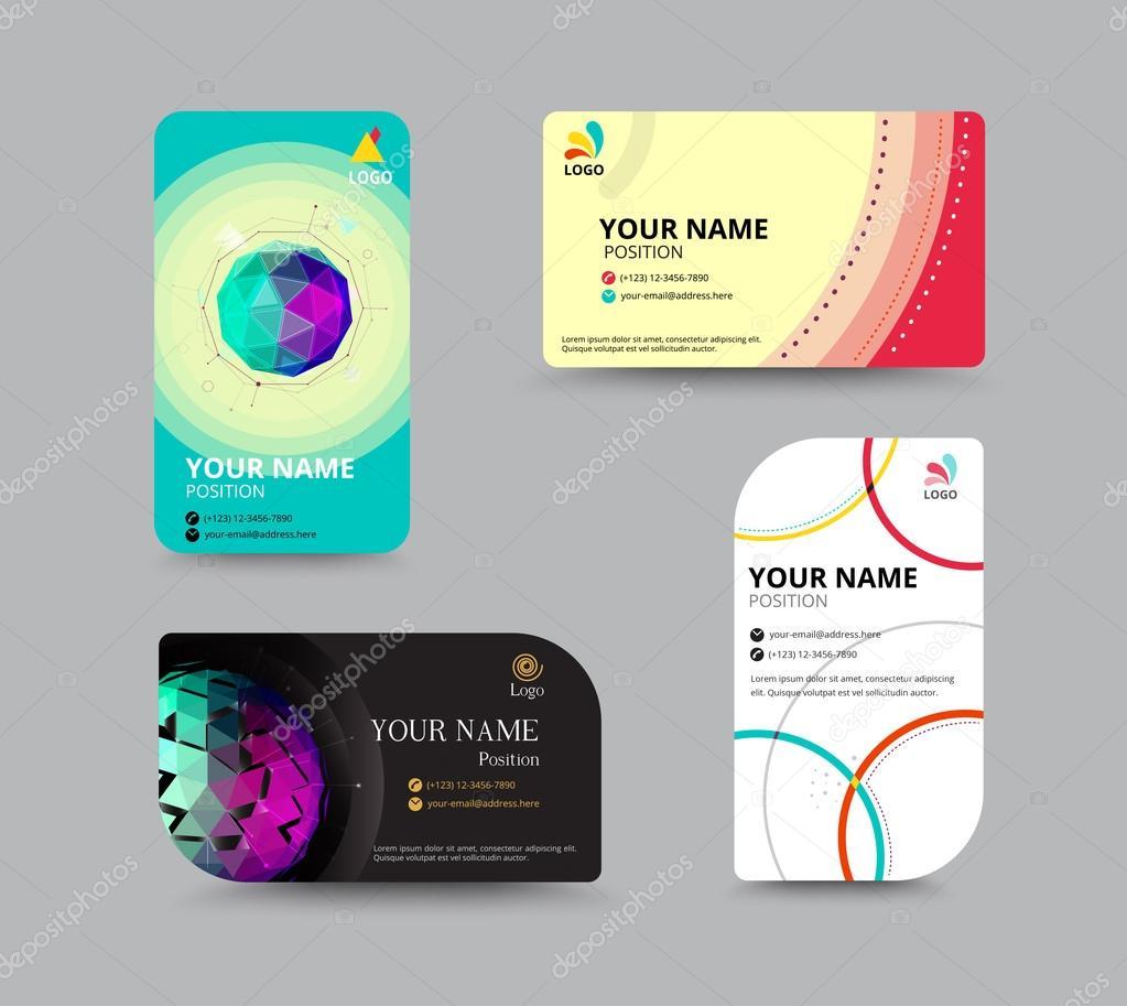 Modle De Carte Visite Mise En Page Design Illustration Vectorielle Vecteur Par Aohodesigndp