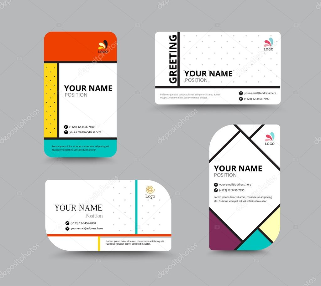 Business card template. name card design for business. include s ...