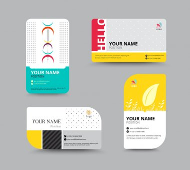 Business card template. name card design for business. include sample text layout. vector illustration. simple name tag design concept. clip art vector