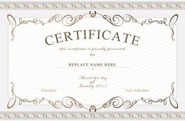 Certificate border, Certificate template. vector illustration
