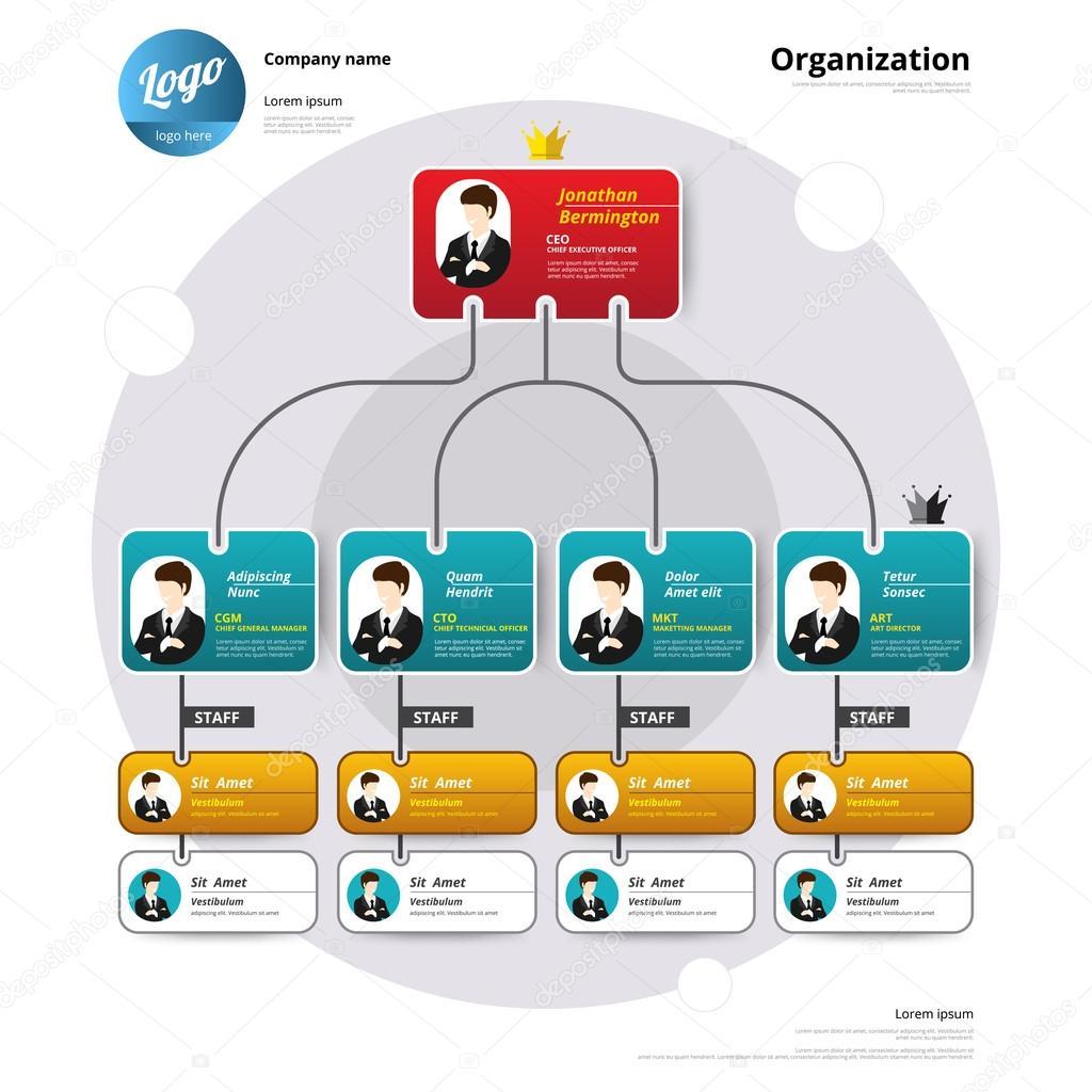 Organization chart, Coporate structure, Flow of organizational.