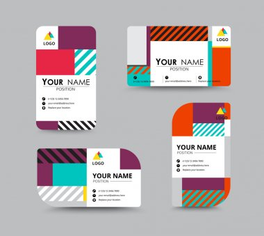 Modern business card and name card design. contempolary design w