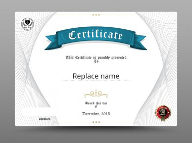 Certificate diploma border, Certificate template. vector illustr