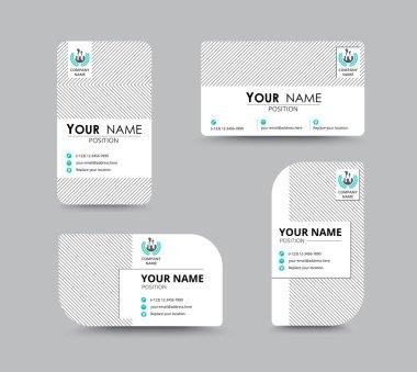 Business contact card template design. vector stock