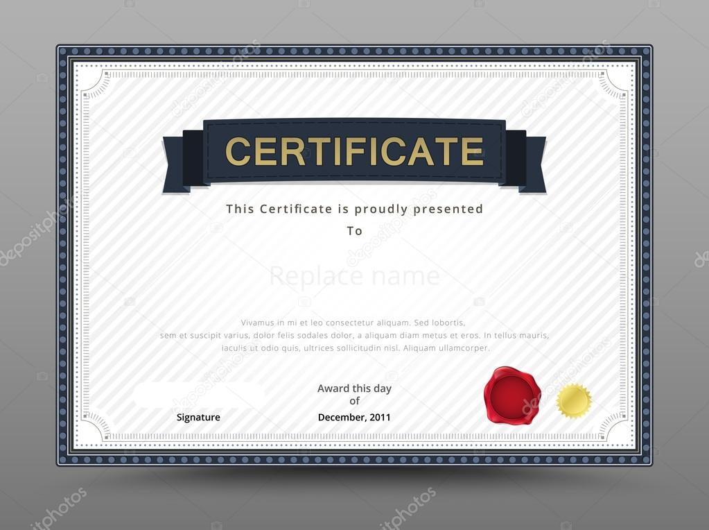 Elegant Certificate Template. Business Certificate Formal Theme.