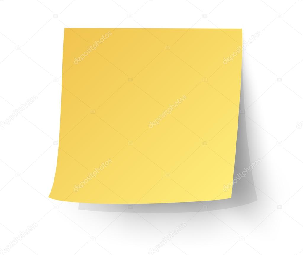 yellow sticky note post it vector illustration stock vector rh depositphotos com free vector post it note paper blue post it note vector