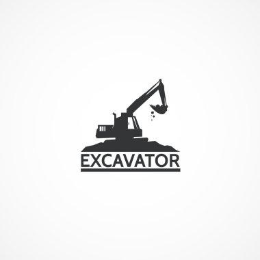 Excavator on the mountain.