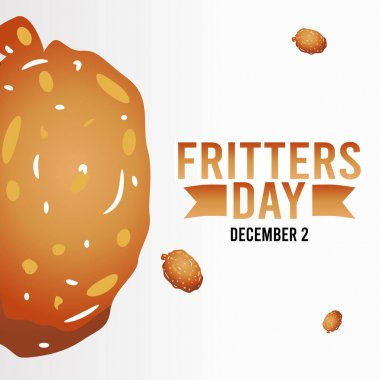 Vector graphic of fritters day good for fritters day celebration. flat design. flyer design.flat illustration. icon