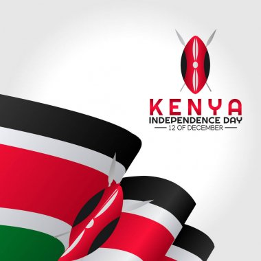 Vector graphic of Kenya independence day good for Kenya independence day celebration. flat design. flyer design.flat illustration. icon