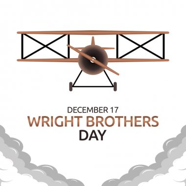 Vector graphic of wright brothers day good for wright brothers day celebration. flat design. flyer design.flat illustration. icon