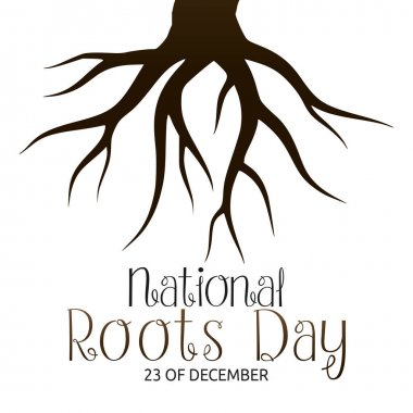 Vector graphic of national roots day good for national roots day celebration. flat design. flyer design.flat illustration. icon