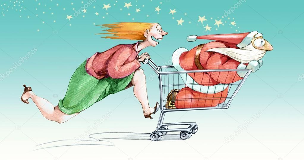 Lanciato In Shopping Di Natale Foto Stock Nuvolanevicata 83359070