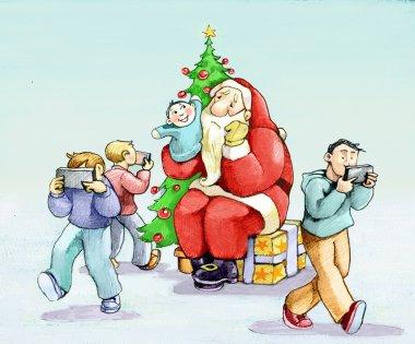 Santa Claus crisis in the era of cell phones