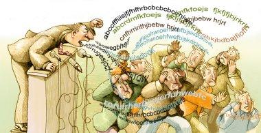 swarm of words