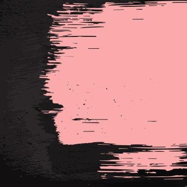 Pink paint dark wall