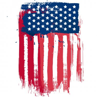 Vertical composition vector american flag in grunge style stock vector