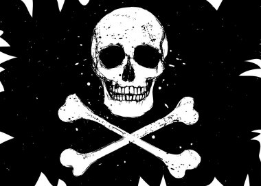 Flag with skull