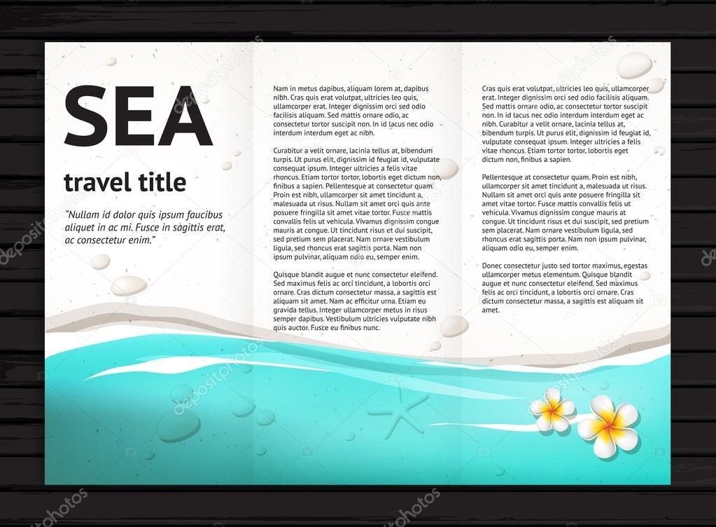 Sea brochure design