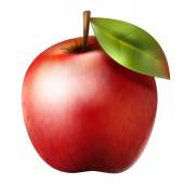 Photo Red realistic apple