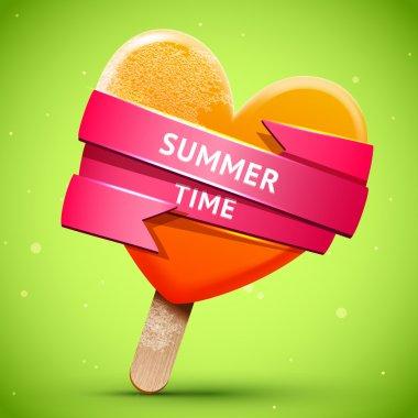 Summer bright orange ice cream