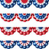 Fotografie US flag round bunting decoration,