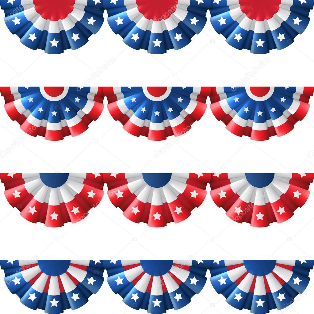 US flag round bunting decoration,