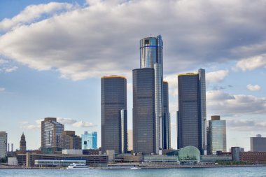 Skyline of downtown Detroit