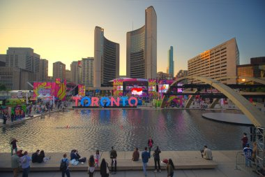 TORONTO,CANADA, JULY 9,2015. The new Toronto sign in Nathan Phill