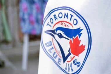 TORONTO,CANADA-July 22,2015: Detail of Blue Jays memorabilia sel