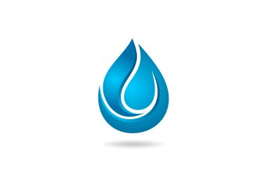 Water drop 3D logo