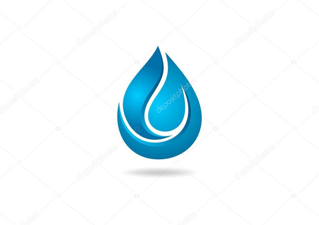 Water drop 3D logo — Stock Vector © breee #55582983
