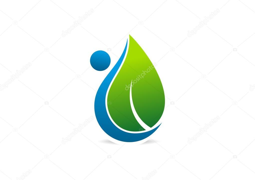 Body care logo, healthy life symbol design