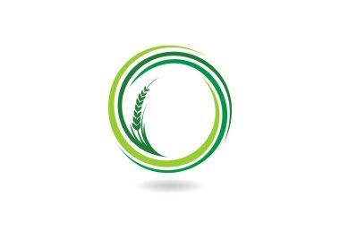 Farm logo, abstract ecology concept design