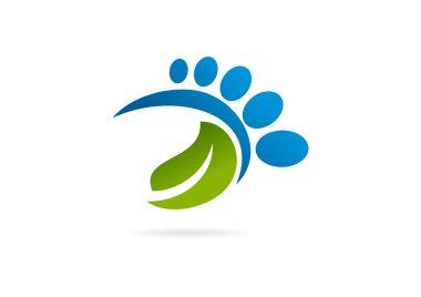 Podiatrist business logo