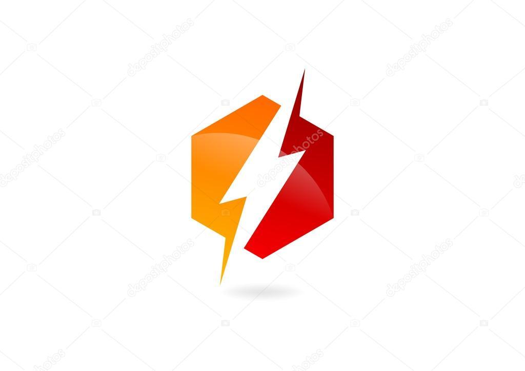 Electric hexagon logo