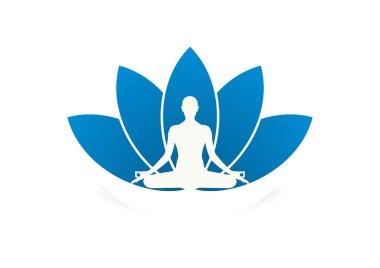 Yoga business logo symbol design vector