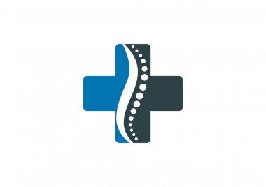 Cross pharmacy chiropractic logo design Vector