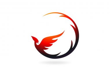 Phoenix logo design symbol vector