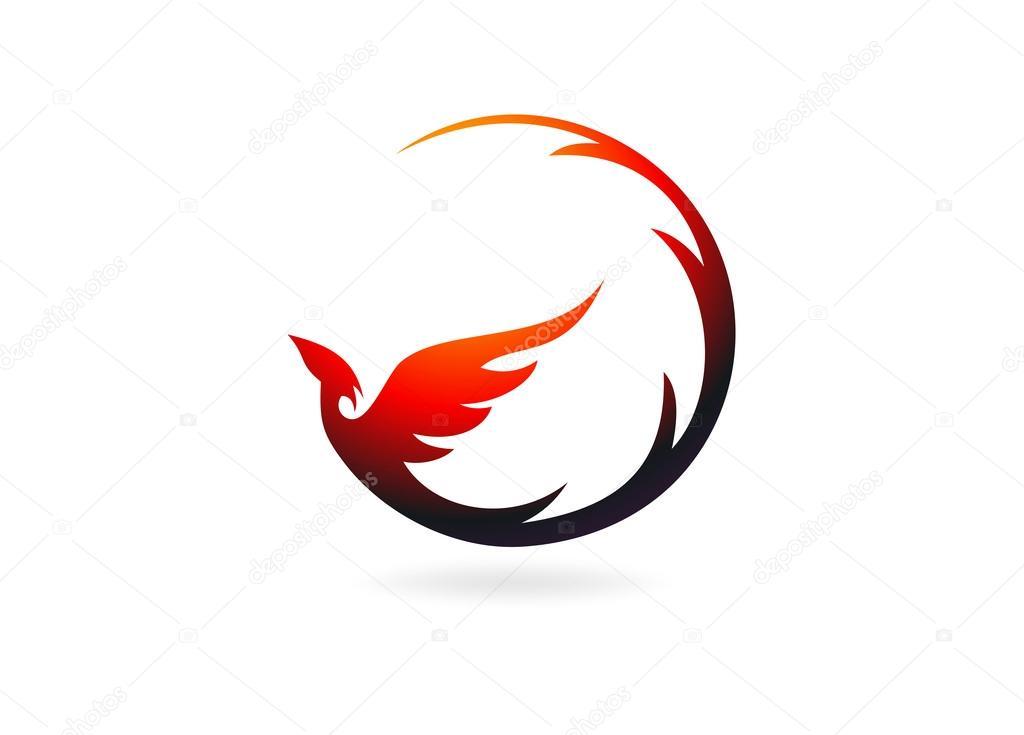 Phoenix Logo Design Symbol Vector Stock Vector