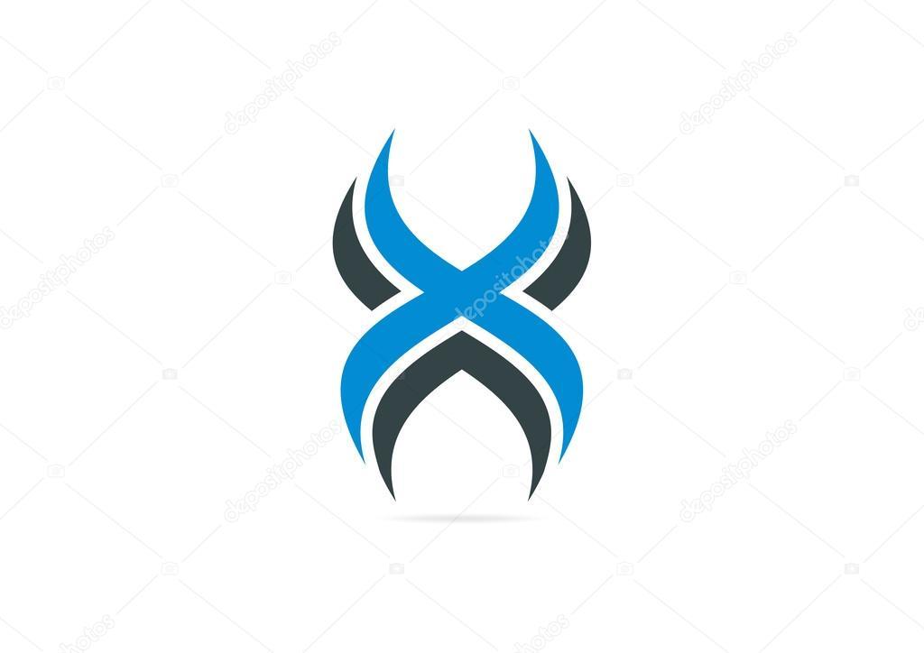 abstract cross x logo design � stock vector 169 breee 58988361