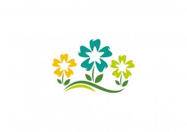 Natural orthodontics flower logo