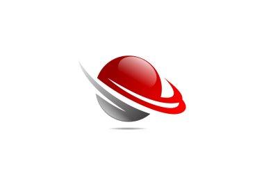 Finance success logo, globe finacial grow icon symbol design