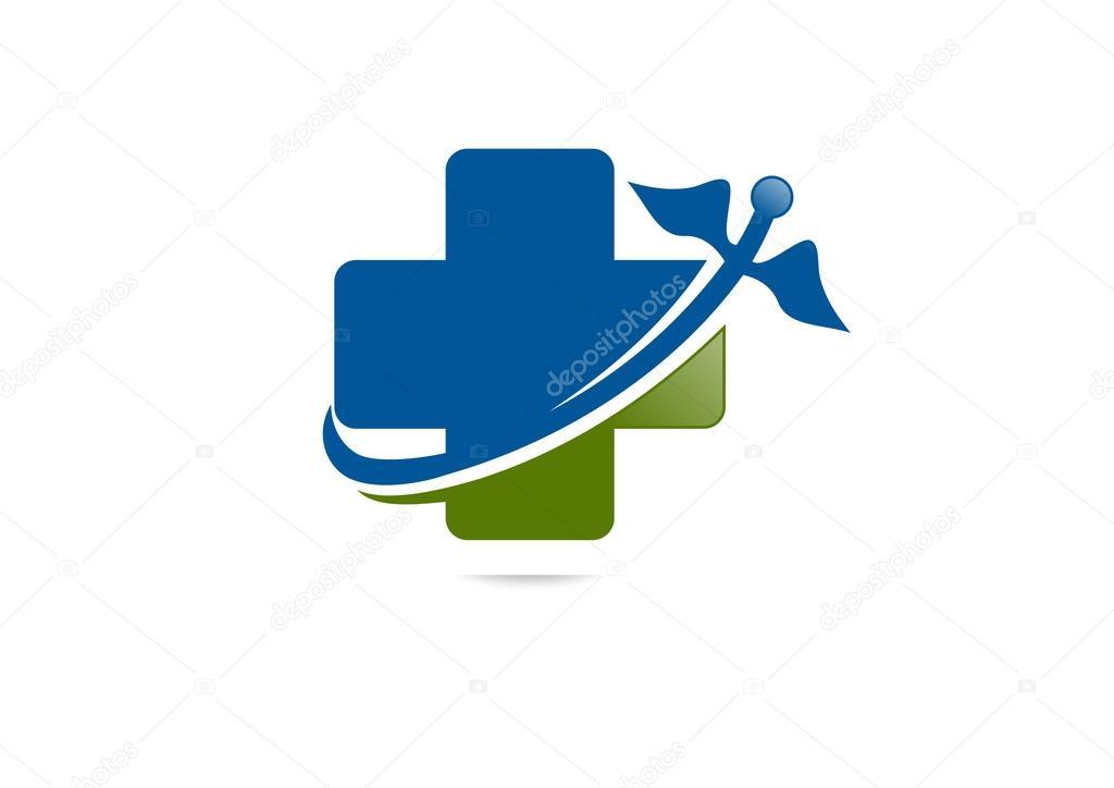 Pharmacy logo, cross medical vector
