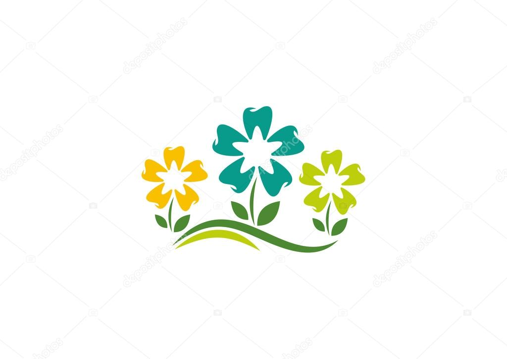 Natural orthodontics flower logo